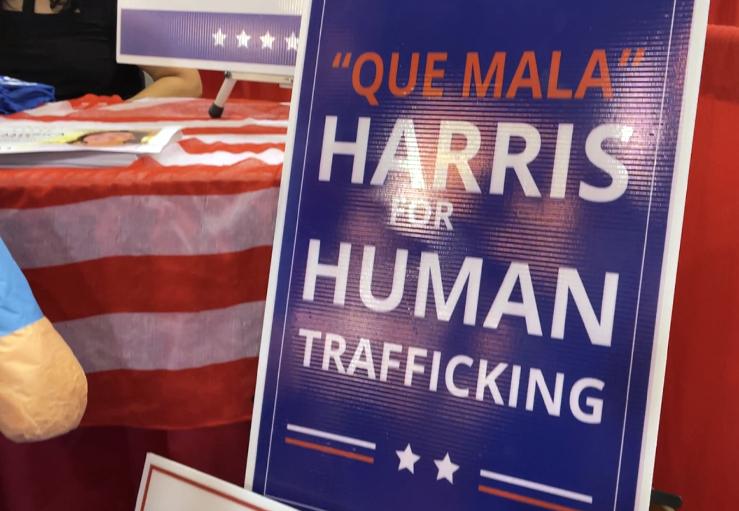 IRENE ARMENDARIZ JACKSON CPAC 2021 QUE MALA HARRIS FOR HUMAN TRAFFICKING